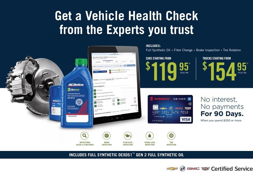 GM Vehicle Health Check Price