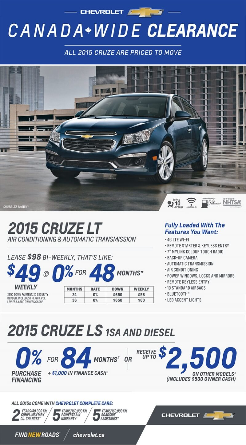 2015 Cruze LT Lease
