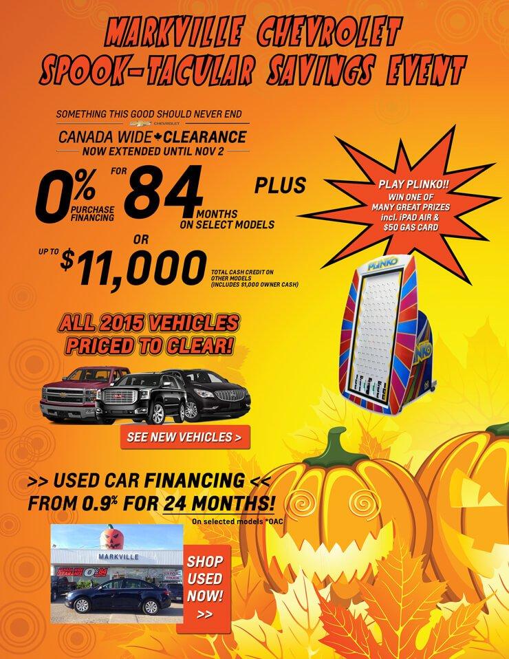 October Chevrolet Specials