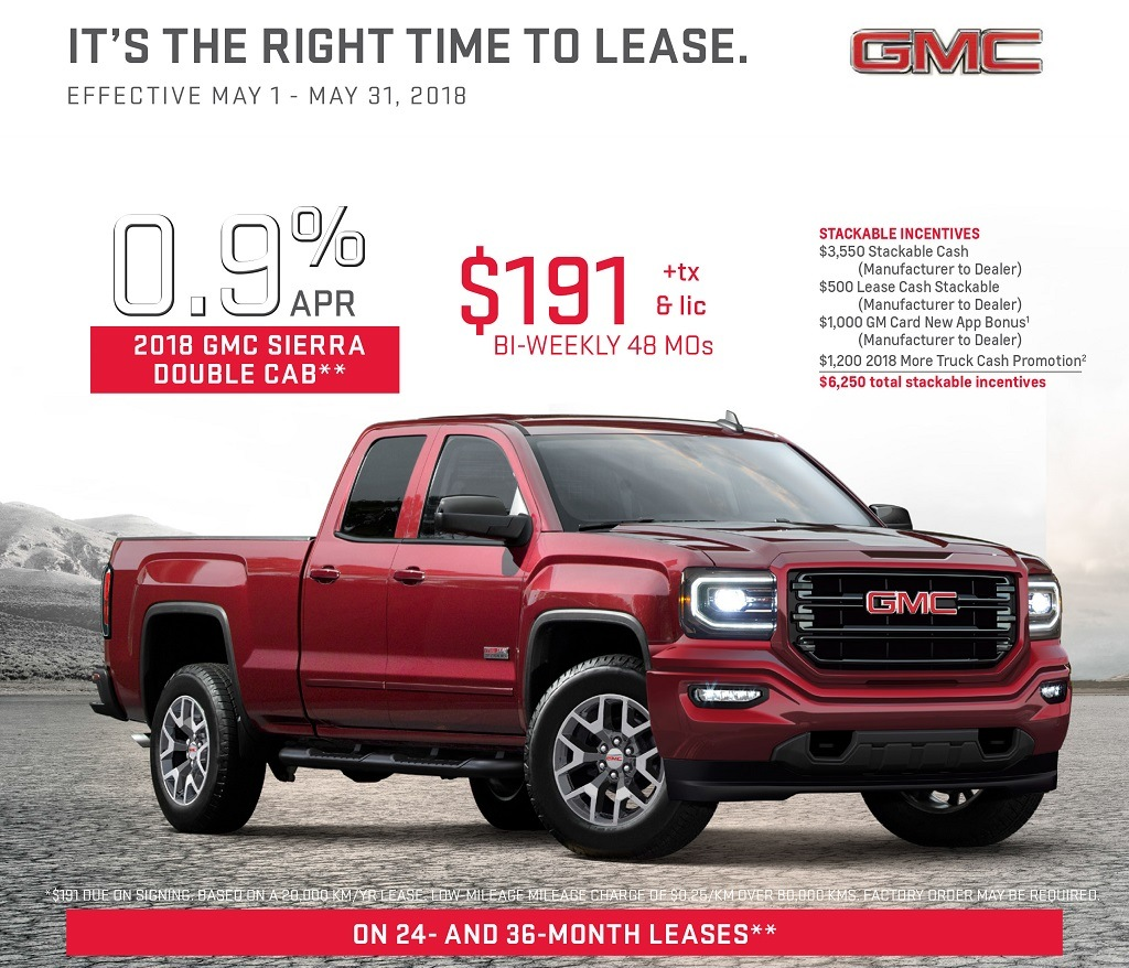 2018 Sierra Double Cab Lease