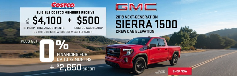 GMC Sierra Offers August 2019