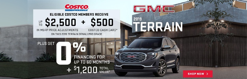 GMC Terrain Offers August 2019