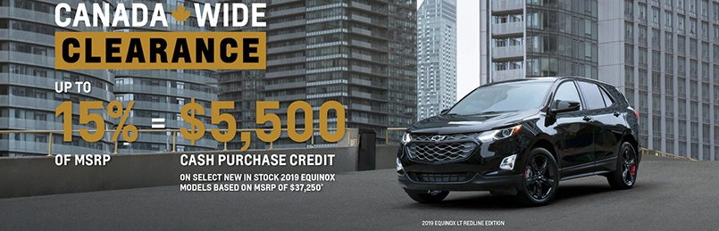 Chevrolet Specials September 2019